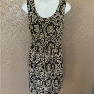 J. Crew Arabesque Print Dress Open Back S